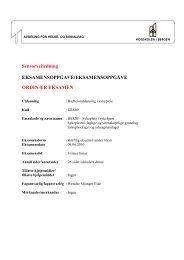 Sykepleie Sensorveiledning BSS2B Sykepleie i sykehjem 090610