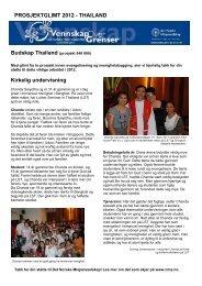 Budskap Thailand 540 000 - Det Norske Misjonsselskap