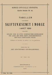 Tabeller vedkommende Skiftevæsenet i Norge i Aaret 1899 - SSB