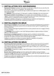 installation och användning installasjon og bruk installation og brug