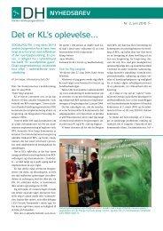 Det er KL's oplevelse… - Danske Handicaporganisationer