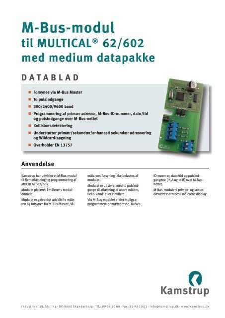 Datablade - Kamstrup A/S