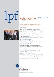 LPF-nyt om ledelse, December 2003 - CBS