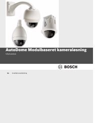 AutoDome Modulbaseret kameraløsning - Bosch Security Systems