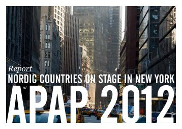 Report Nordic Countries on Stage in New York 2012 - LOCO WORLD