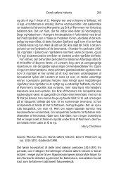 Anmeldelser - Historisk Tidsskrift