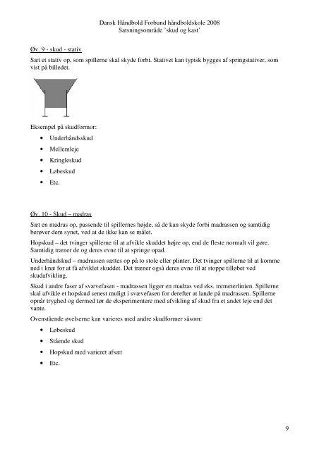 Kast & skud - Odder Håndbold