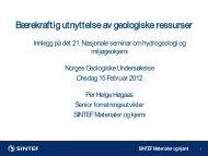 Bærekraftig utnyttelse av geologiske ressurser - NGU