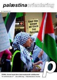 Palæstina Orientering nr. 2, 2012