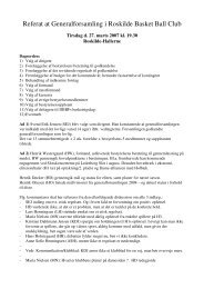 Referat at Generalforsamling i Roskilde Basket Ball Club
