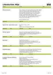 Litteraturliste: Miljø - Oplysningscenter om den 3. verden