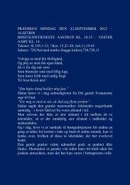 PRÆDIKEN SØNDAG DEN 23.SEPTEMBER 2012 - Vester Aaby og ...