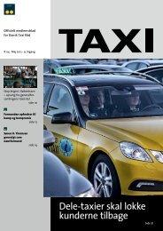 Dele-taxier skal lokke kunderne tilbage - Dansk Taxi Råd