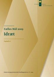 Fælles Mål 2009 for idræt - Undervisningsministeriet