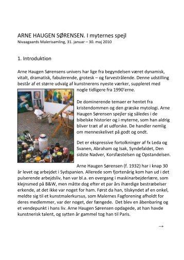 Arne Haugen Sørensen - Nivaagaards Malerisamling