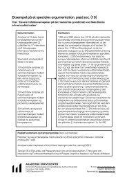 Eksempel på et speciales argumentation, pæd.soc. (10)