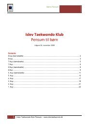Børnepensum - Islev Taekwondo