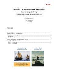 Scenarier i strategisk regional planlægning - fødevarer og jordbrug