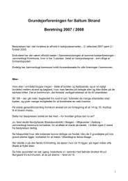 Beretning 2008 - Saltum Strand Grundejerforening