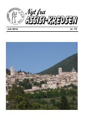 Juli 2012 nr. 75 Fra La Verna - Assisi-Kredsen