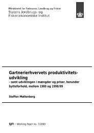 Gartnerierhvervets produktivitets- udvikling - Danmarks Statistik