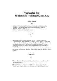 Vedtægter for Sønderskov Vandværk, a.m.b.a.