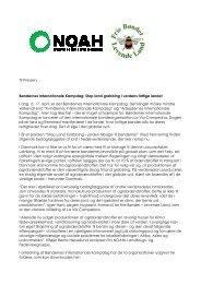 Bøndernes Internationale Kampdag: Stop land grabbing i ... - Noah