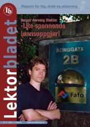 Lektorbladet 5 2004 - Norsk Lektorlag