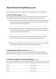 Skjema til bruk ved registrering av navn (PDF) - UDI Regelverk