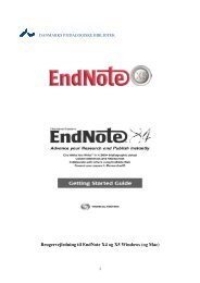 Brugervejledning til EndNote X4 og X5 Windows (og Mac) - DPB