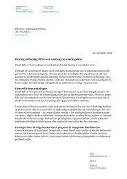 Høring af forslag til lov om næring (ny næringslov ... - Dansk Erhverv