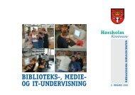 BIBLIOTEKS-, MEDIE- OG IT-UNDERVISNING - Hørsholm Skole