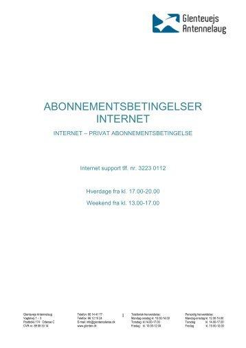 Hent betingelser som PDF - Glentevejs Antennelaug