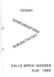 Terapi, samfundsform, subjektivitet - Gaderummet