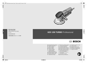 GEX 150 TURBO Professional