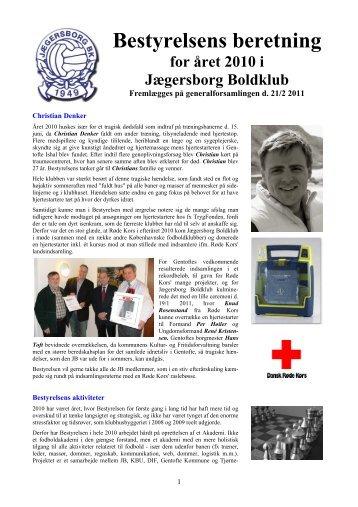 Årsberetning 2010 - Jægersborg Boldklub