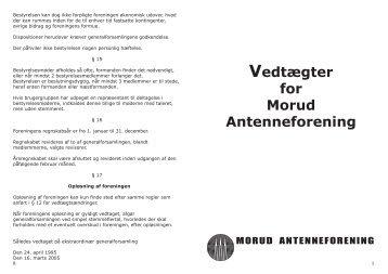 Print af vedtægter - Morud Antenneforening