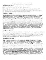 1 Ferie i Italien 1. del. Fra 7. april til 8. maj 2011 Torsdag den 7. april ...