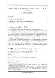 Vejledning til Maple i LaTeX