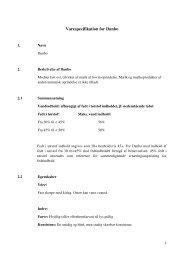 Varespecifikation for DANBO revideret juli 2011 - Fødevarestyrelsen