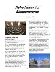 NYHEDSBREV 45 - Bloddonorerne i Danmark
