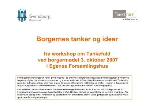 Borgernes tanker og ideer - Svendborg kommune