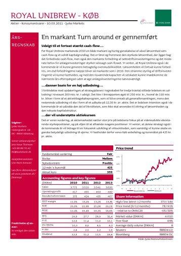 ROYAL UNIBREW - KØB - Jyske Bank (France)