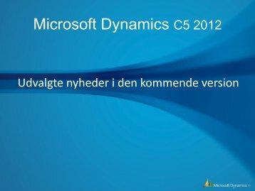 Microsoft Dynamics C5 2012 udvalgte nyheder i pdf - Gunderrud