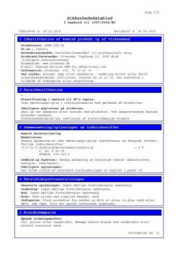Sikkerhedsdatablad - BI-RO A/S