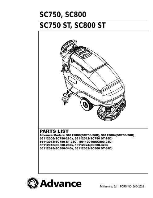 56112109 SC800 ST FLOOR SCRUBBERS ADVANCE SC750 DRIVE WHEEL SC800 SC750 ST