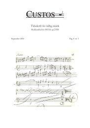 September 2010 - Tidlig Musik i Danmark