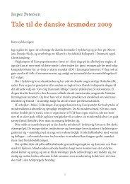 Tale til de danske årsmøder 2009 - Forlaget Columbus