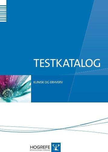 download vores Testkatalog - Hogrefe.dk