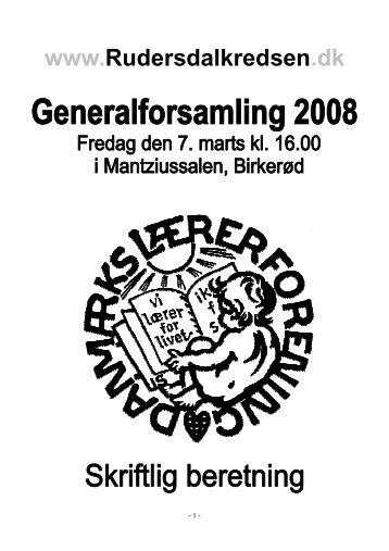 Beretning 2008 - Danmarks Lærerforening - kreds 26